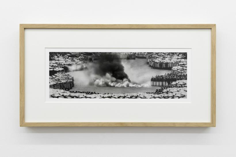 Fetor. Greetings, 2014, From the series Plague, Baryta paper print, wooden frame, 26 cm x 9,5 cm.