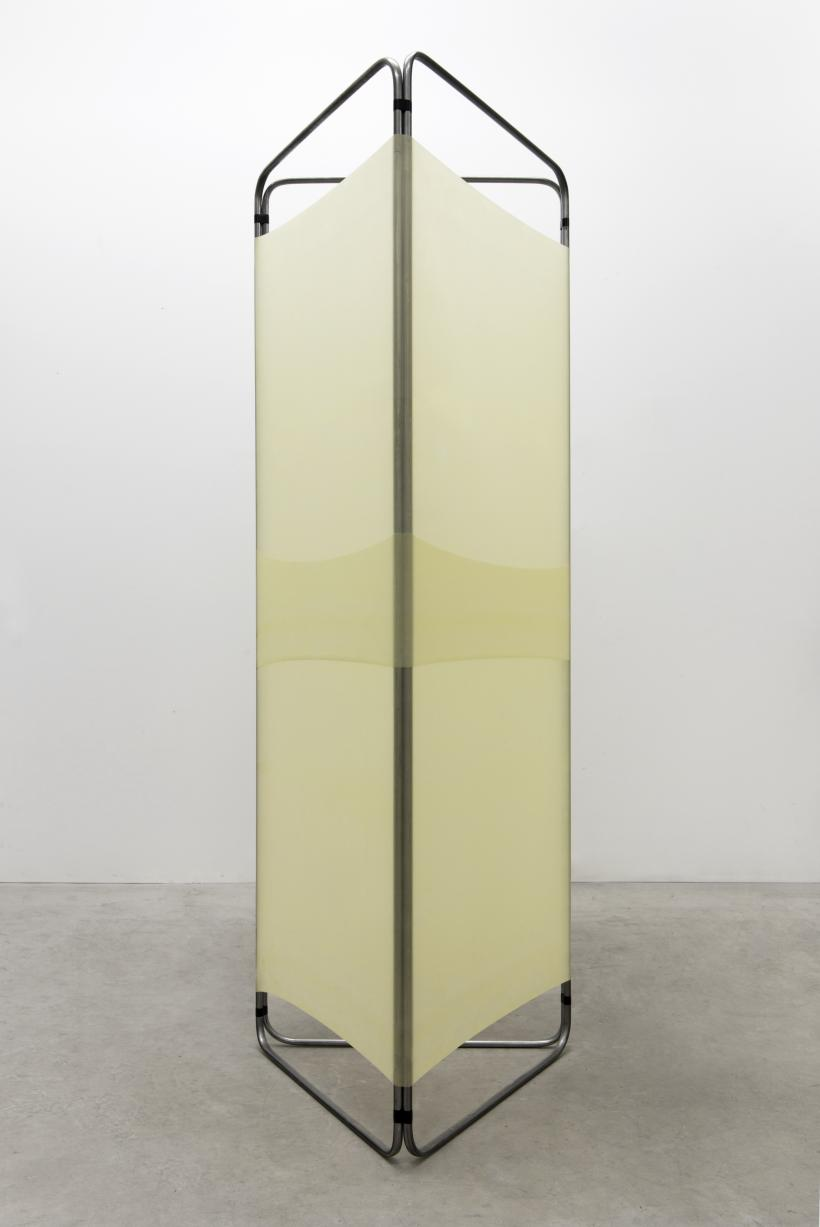 Minimum, Necessary, Objectively Reasonable #5, 2016, Steel, latex and tape,  200 cm x 75 cm x 75 cm.