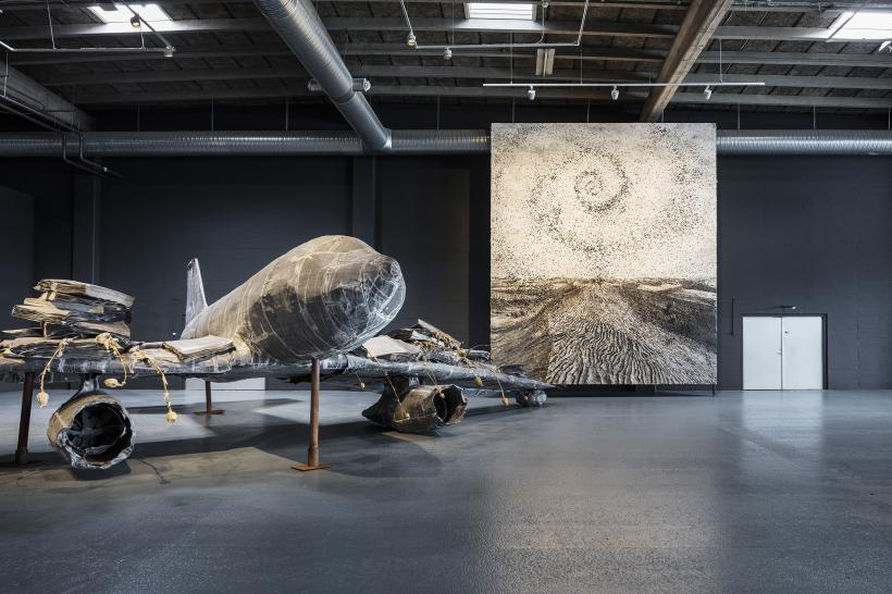 Anselm Kiefer. For Louis-Ferdinand Céline: Voyage au bout de la nuit. Installation shot, Copenhagen Contemporary 2016.