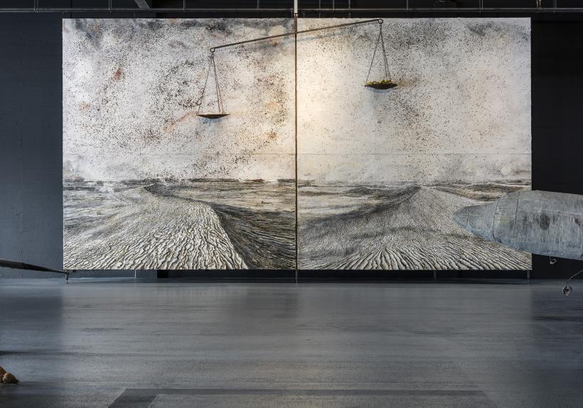 Anselm Kiefer. For Louis-Ferdinand Céline: Voyage au bout de la nuit. Installation shot, Copenhagen Contemporary 2016.