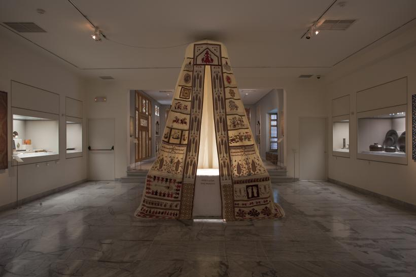Mounira Al Solh, Sperveri, 2017, installation view, Museum of Islamic Art, Benaki Museum, Athens, documenta 14