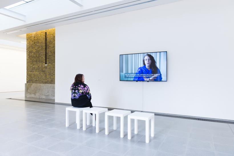 Speak, Tania Bruguera, Transforma tus ideas en acciones cívica / Transform your ideas into civic actions, 2017; Installation view, Serpentine Sackler Gallery, London, March 2017 - 21 May 2017