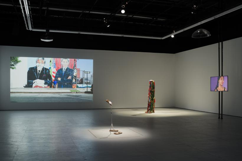 Installation view, That I am reading backwards and into for a purpose, to go on, The Kitchen