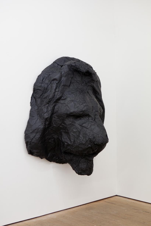 Ewa Axelrad, Had it, 2017. Black aluminium foil and mixed media