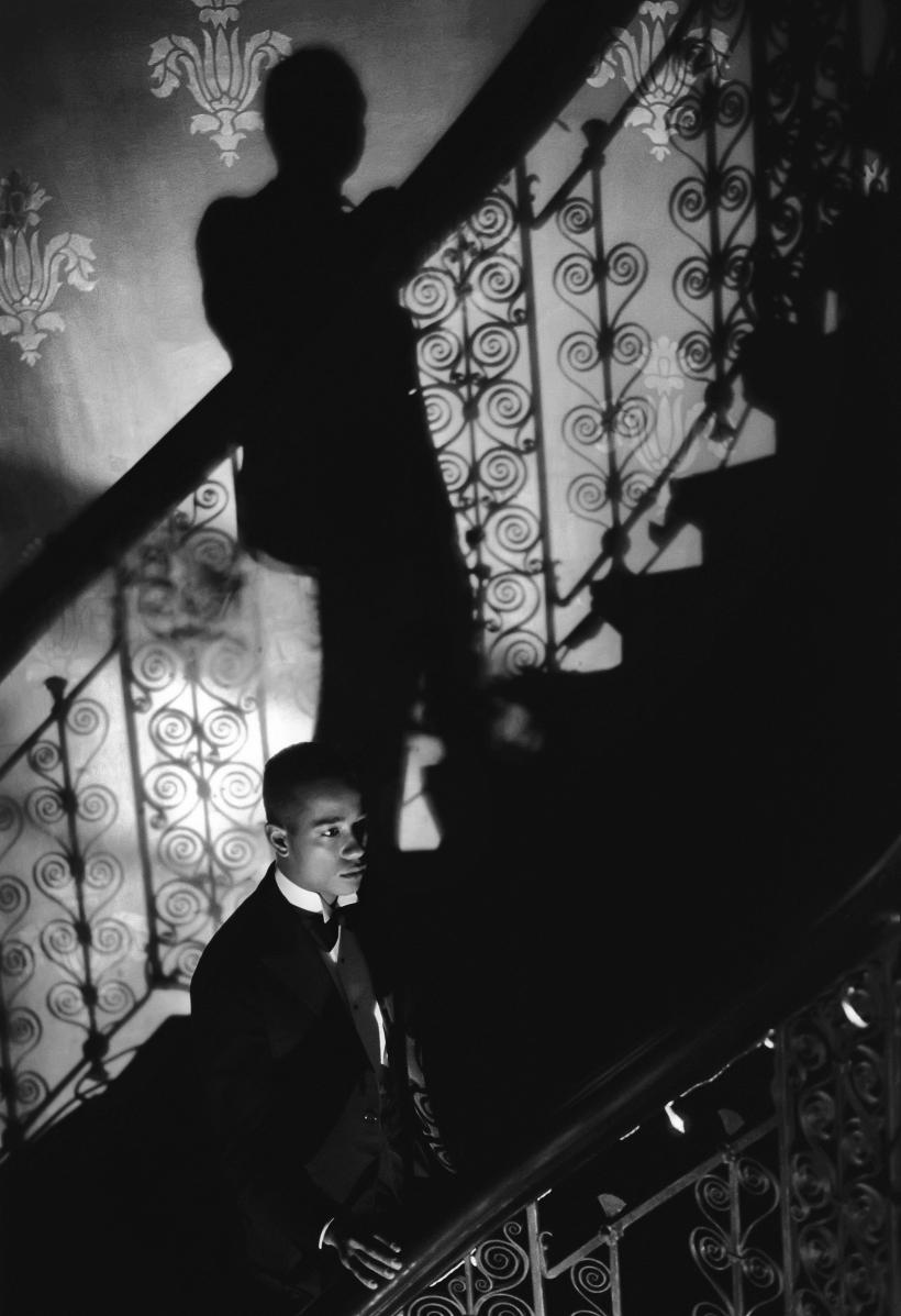 Isaac Julien, Film-Noir Staircase (Looking for Langston Vintage Series), 1989/2016, Kodak Premier print, Diasec mounted on aluminum 260 x 180 cm (102 3/8 x 70 7/8 in)