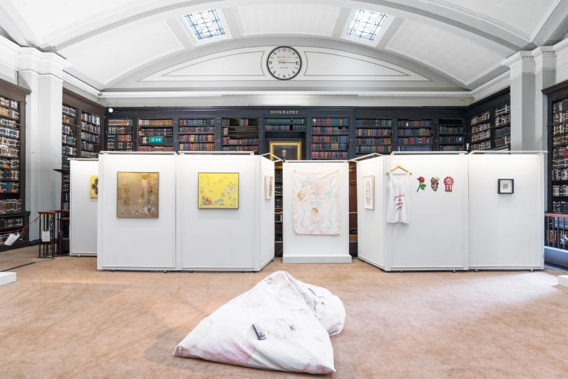 Cut Cloth, The Portico Library, installation view