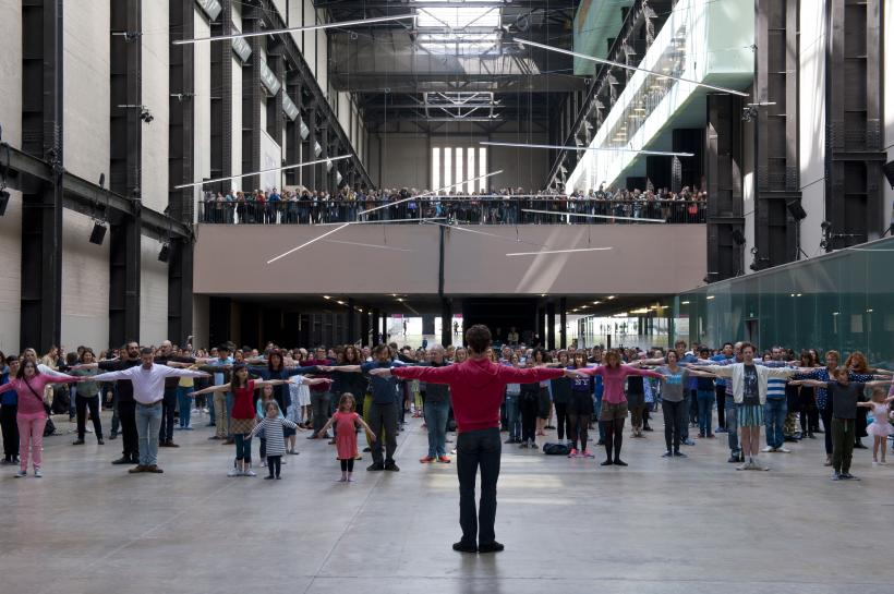 Public warm up with Boris Charmatz. As part of BMW Tate Live: If Tate Modern was Musée de la danse? Tate Modern.