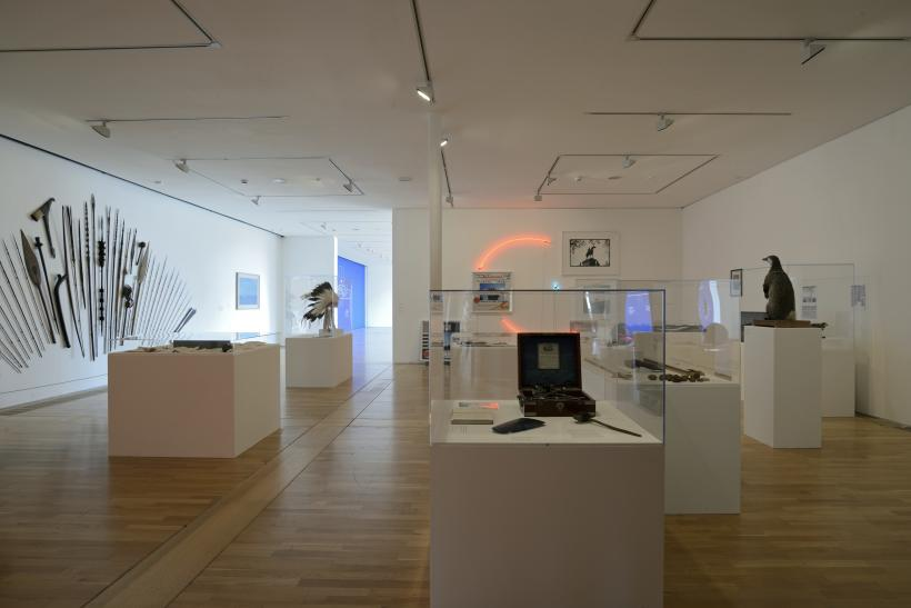 Installation shot of Simon Patterson: Safari: an exhibition as expedition