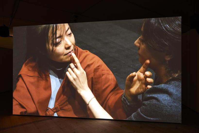Shen Xin, Provocation of the Nightingale 2017, BALTIC Artists' Award 2017, four channel video installation view, BALTIC Centre for Contemporary Art, Gateshead