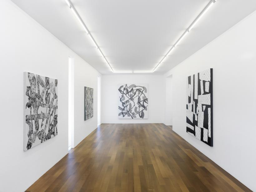 Exhibition view, Yves Zurstrassen, Galerie Xippas, Geneva, Switzerland, 2017