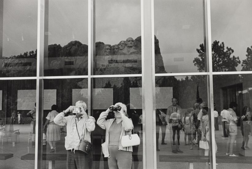 Lee Friedlander, Mt Rushmore, South Dakota, 1969, gelatin-silver print.