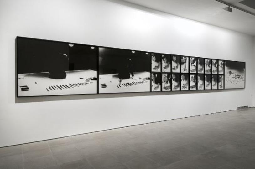 Installation shot. Marina Abramovic. Rhythm 10. 1973. Courtesy the artist and Lisson Gallery