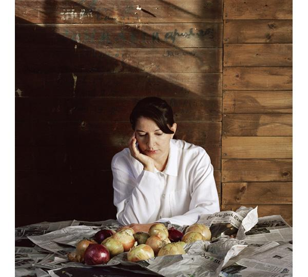 Marina Abramovic. Portrait with Onions. 2008. Courtesy the artist, Marco Anelli and Lisson Gallery