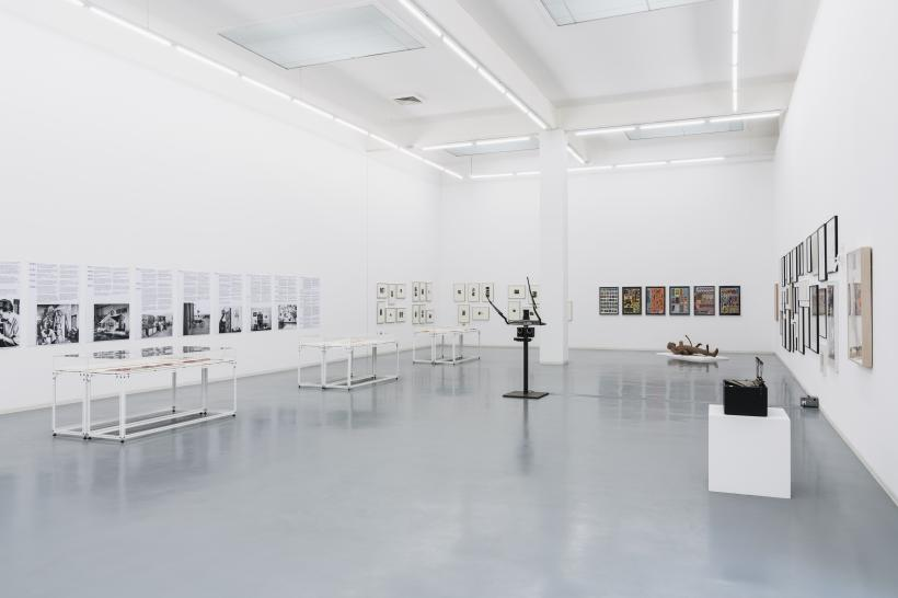 Installation view, The Policeman's Beard is Half Constructed: Art in the Age of Artificial Intelligence, Bonner Kunstverein 2017