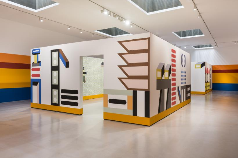 Installation view of Nathalie Du Pasquier: Other Rooms at Camden Arts Centre, 2017.