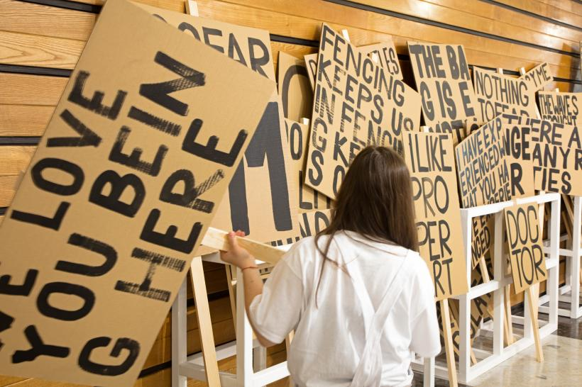 Sign Paintings for Plymouth, Peter Liversidge.