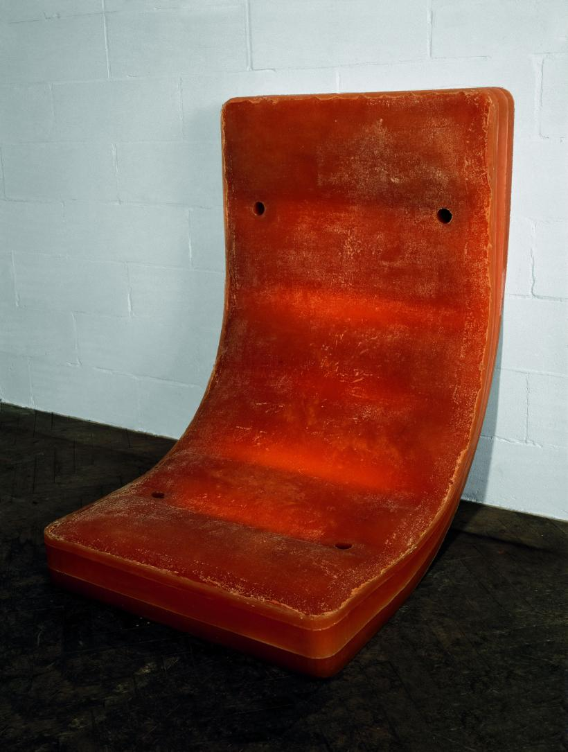 Untitled (Amber Bed), 1991, Rubber, 510 x 360 x 400 mm