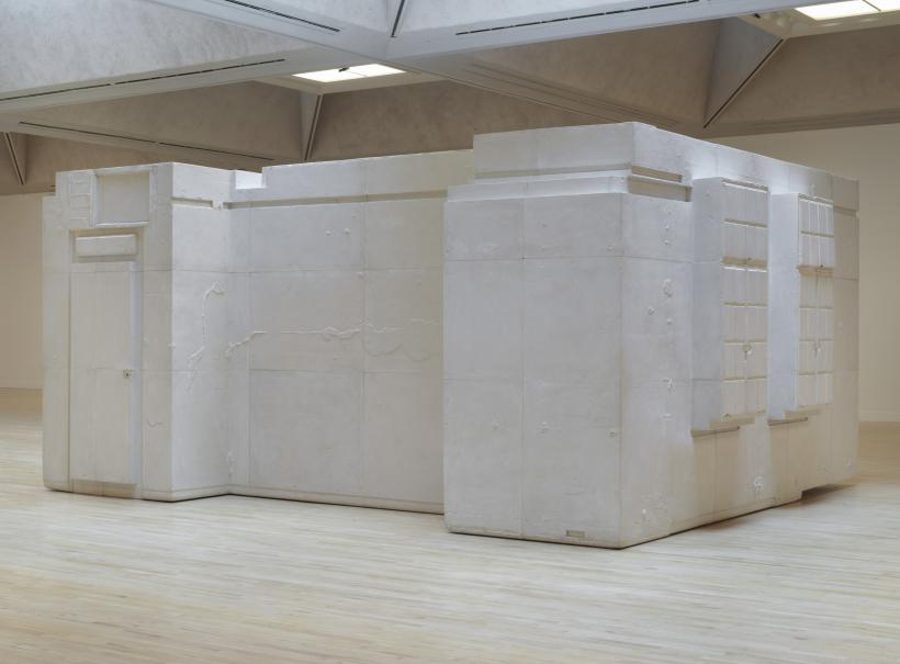Untitled (Room 101), 2003, Plaster, wood and metal, 3000 x 6430 x 5000 mm