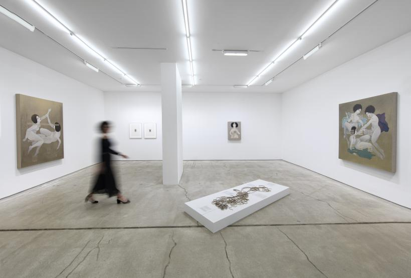 Hayv Kahraman: Re-weaving Migrant Inscriptions installation view 2017