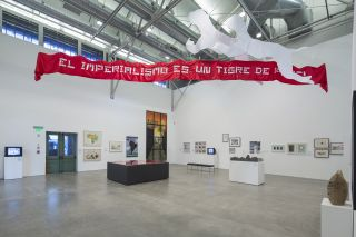 Installation view of Memories of Underdevelopment: Art and the Decolonial Turn in Latin America, 1960-1985