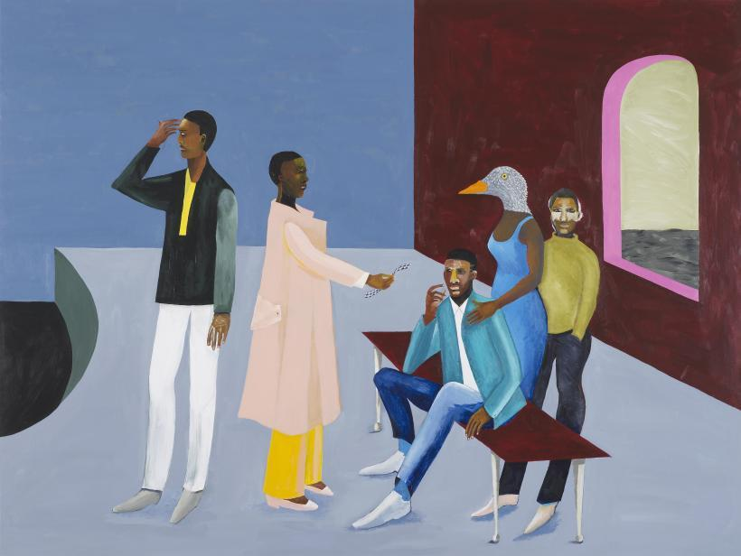 Lubaina Himid, Le Rodeur: Exchange, 2016