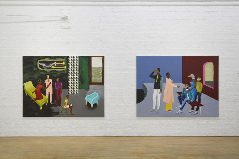 Lubaina Himid: Invisible Strategies, installation view at Modern Art Oxford, 2017