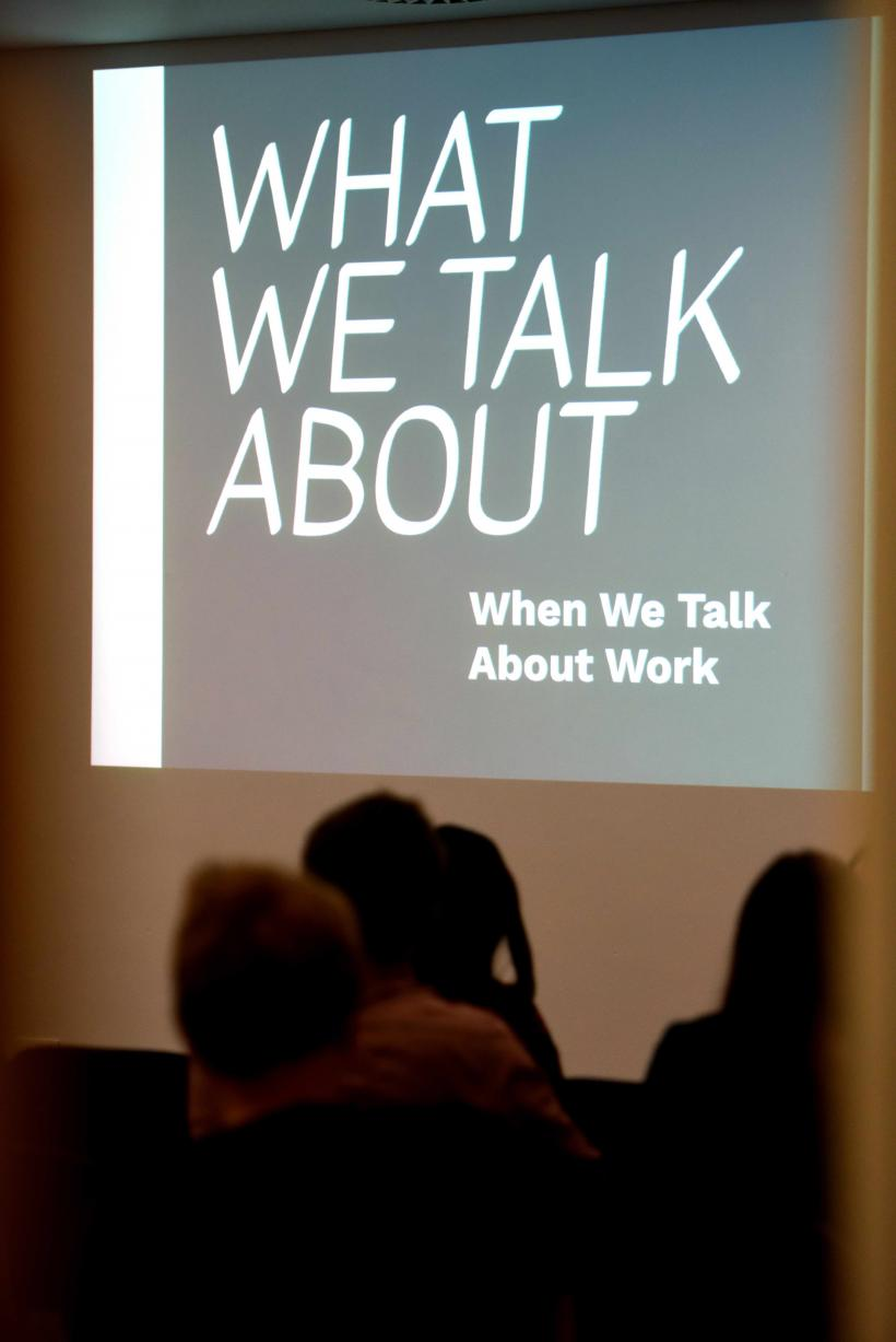 What We Talk About When We Talk About panel discussion at Middlesbrough Institute of Modern Art 2017