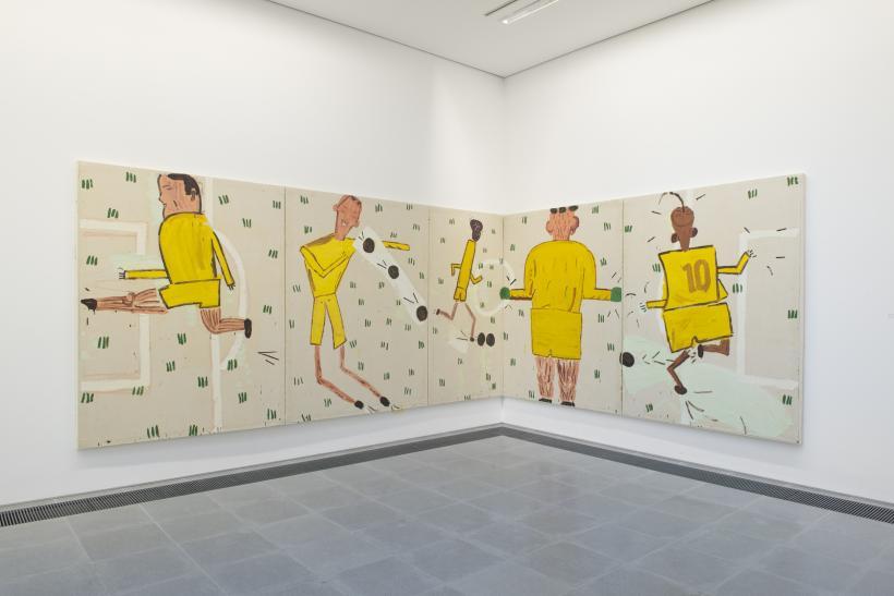 Rose Wylie, Installation view, Quack Quack, Serpentine Sackler Gallery, London