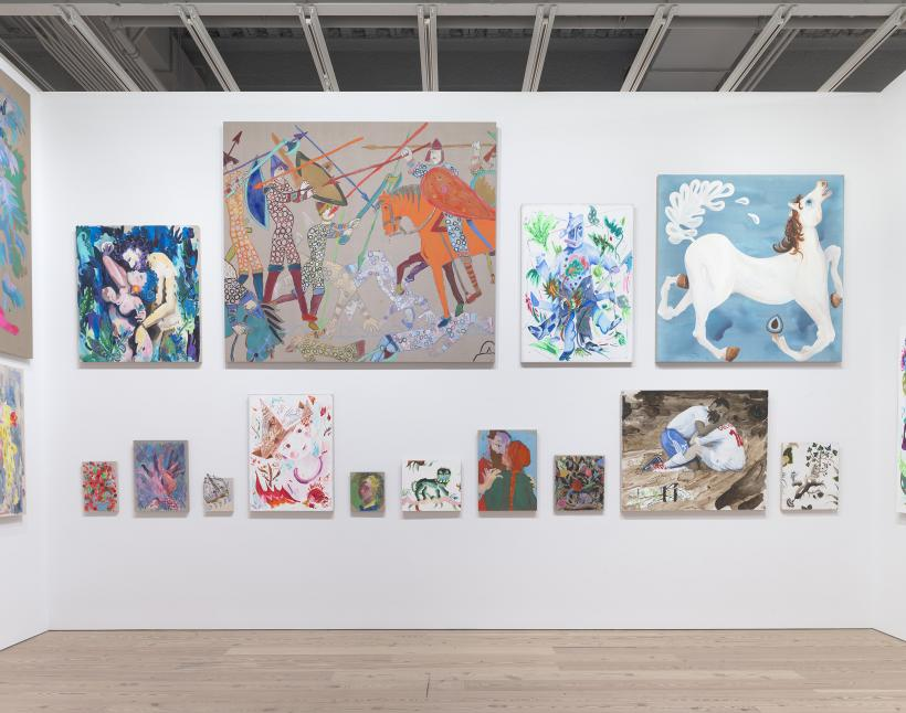 Installation view of Laura Owens (Whitney Museum of American Art, New York, November 10, 2017 - February 4, 2018)
