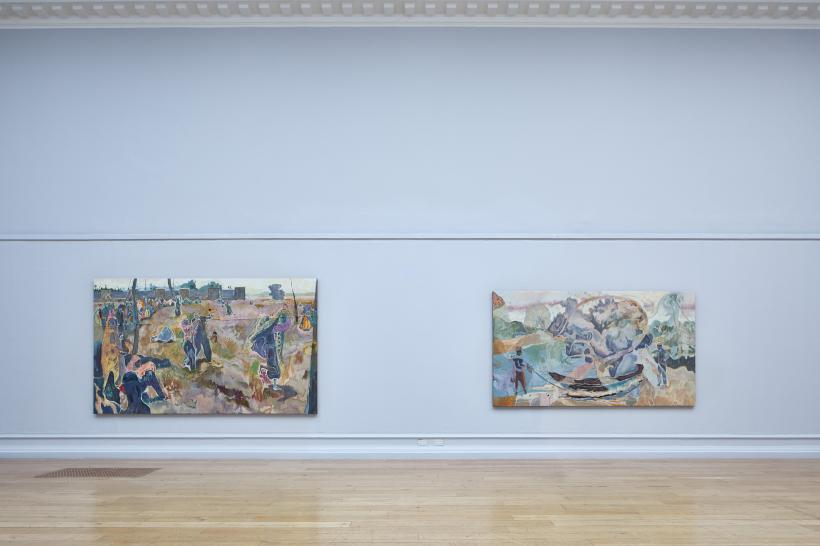 Michael Armitage, The Chapel, installation view at the South London Gallery, 2017.