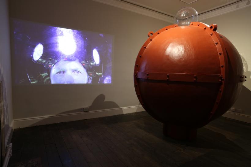 Alexander Stevenson, All At Sea, 2017, Sculpture and video (12 mins)