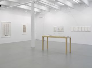 Installation view of Channa Horwitz at Lisson Gallery, New York