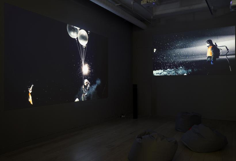 Hiraki Sawa, fantasmagoria, installation view, Parafin, London, 2018