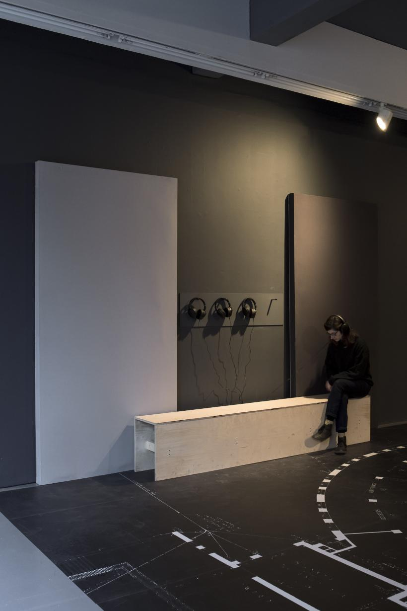 Katrina Palmer, The Time Travelling Circus: The Recent Return of Pablo Fanque and the Electrolier, 2018, Installation view, Temple Bar Gallery + Studios.