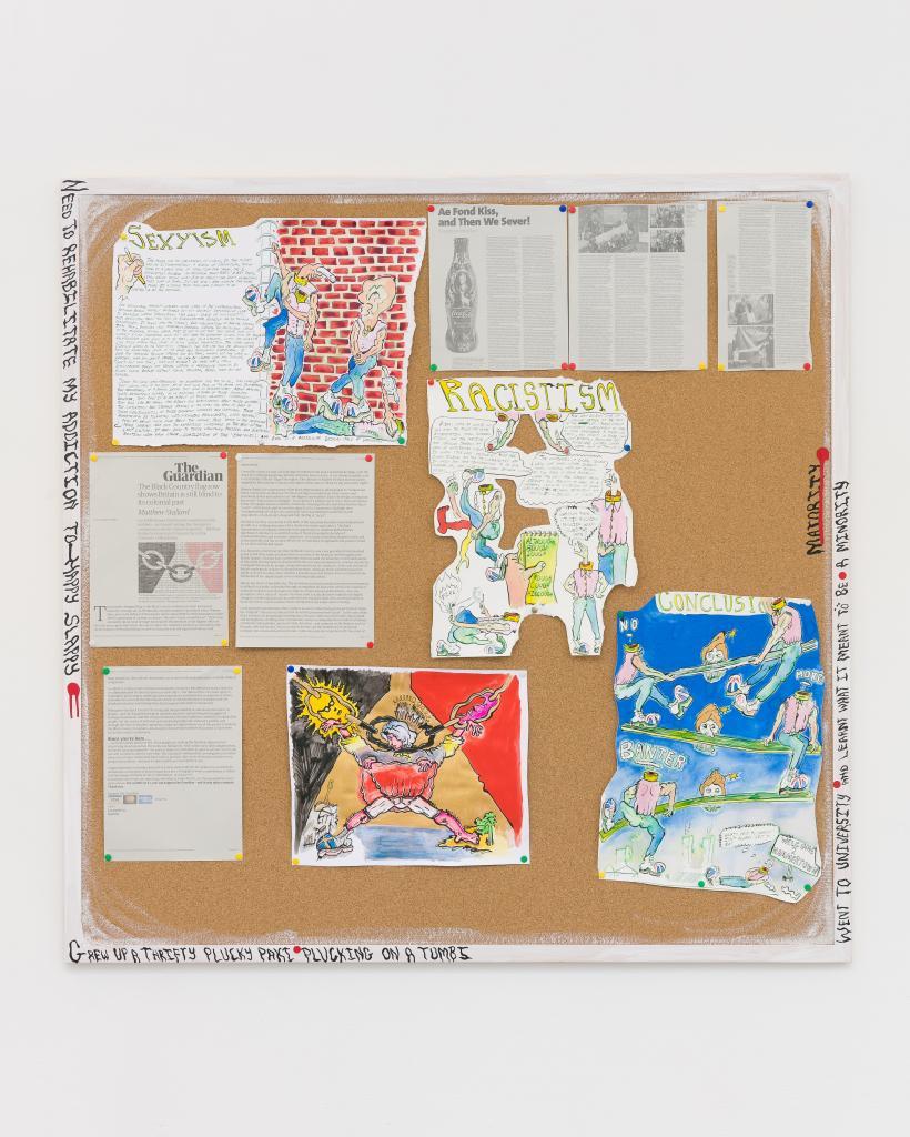 Hardeep Pandhal, Liar Hydrant Mood Board detail, Cubitt Gallery, 2018.