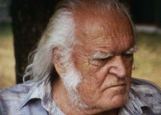 Mario Merz, 2002 by Tacita Dean. 16mm colour film, optical sound, 8 minutes, 30 seconds. Film still.