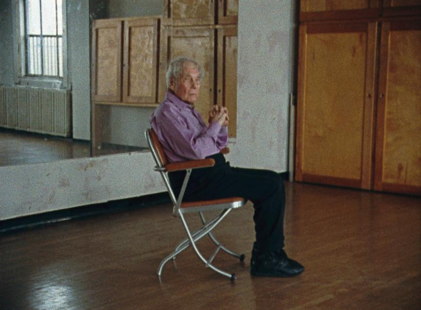 Merce Cunningham performs STILLNESS… (six performances, six films), 2008 by Tacita Dean. 6 x 16mm colour films, optical sound, ca. 5 minutes each. Film still.
