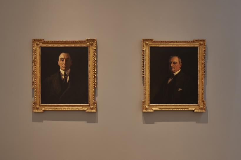 Sir John Lavery, Sir Edward Carson, MP, 1916 (left) and John E. Redmond, MP, 1916 (right); Collection Dublin City Gallery The Hugh Lane.