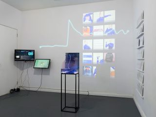 De-Leb at Banner Repeater installation view