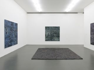 Irene Kopelman, 77 Colors of a Volcanic Landscape A, B, C (2016) and Puzzle Piece (2012) part of Irene Kopelman, a solo exhibition, Witte de With Center for Contemporary Art 2018