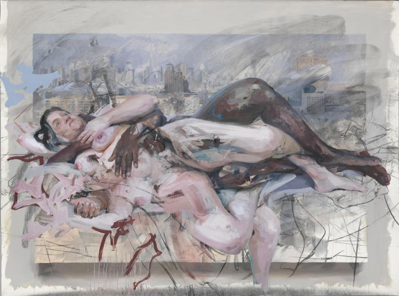 JENNY SAVILLE  Olympia, 2013 - 2014  Charcoal and oil on canvas, 217 x 290 cm copyright Jenny Saville.  Courtesy of the artist and Gagosian