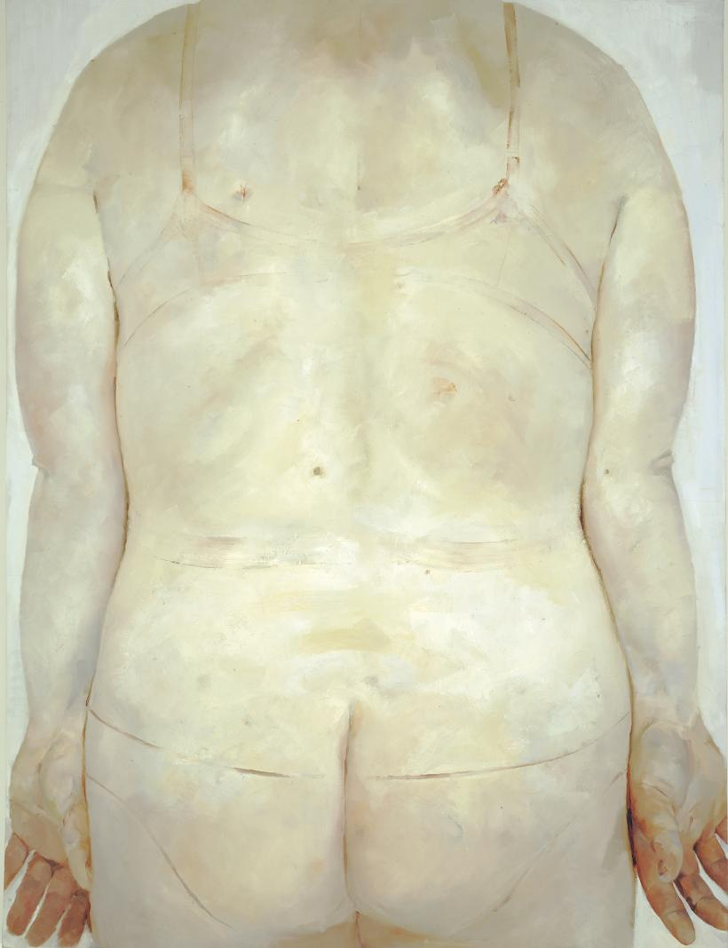 JENNY SAVILLE  Red Stare Head IV, 2006 - 2011  Oil on canvas, 252 x 187.5cm, Private collection copyright Jenny Saville.  Courtesy of the artist and Gagosian