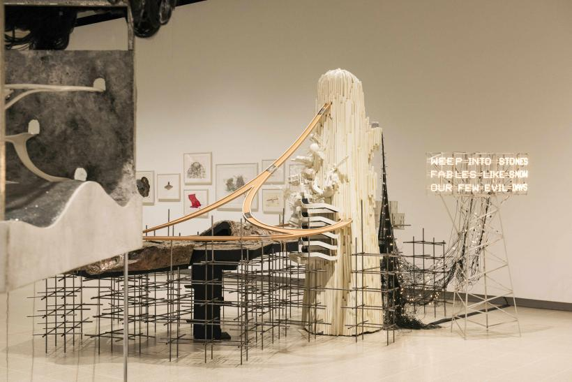 Installation view of Lee Bul Via Negativa II 2014 at Hayward Gallery 2018 (interior detail) copyright Lee Bul  2018  Photo Linda Nylind