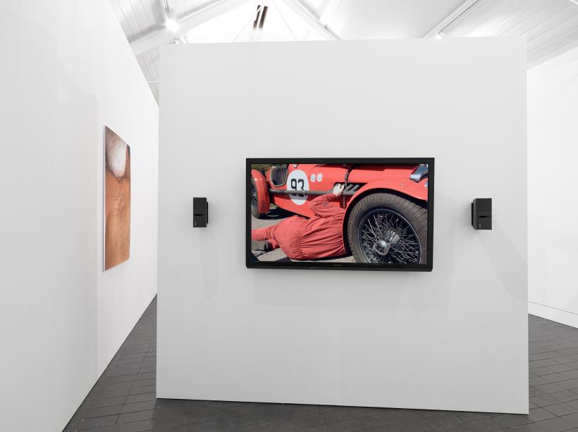 Rob Crosse, Vintage. 2018. HD Video. Installation view at Jerwood Space. Commissioned for Jerwood Solo Presentations 2018, supported by Jerwood Charitable Foundation. Image: Anna Arca.