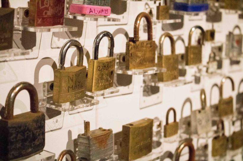 Love Locks Collection, taken from Leeds Centenary Bridge