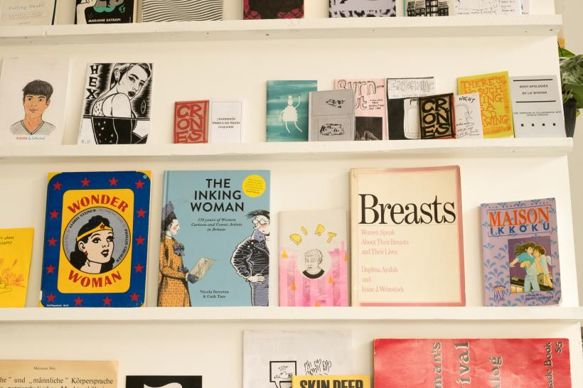 Feminist library installation view