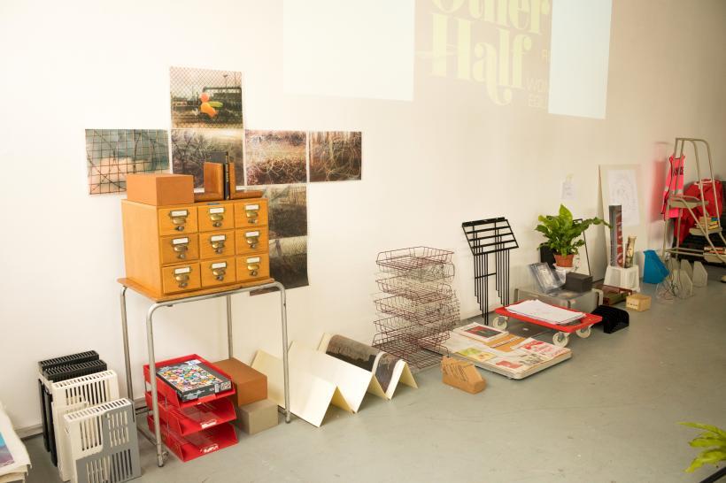 Feminist library installation veiw