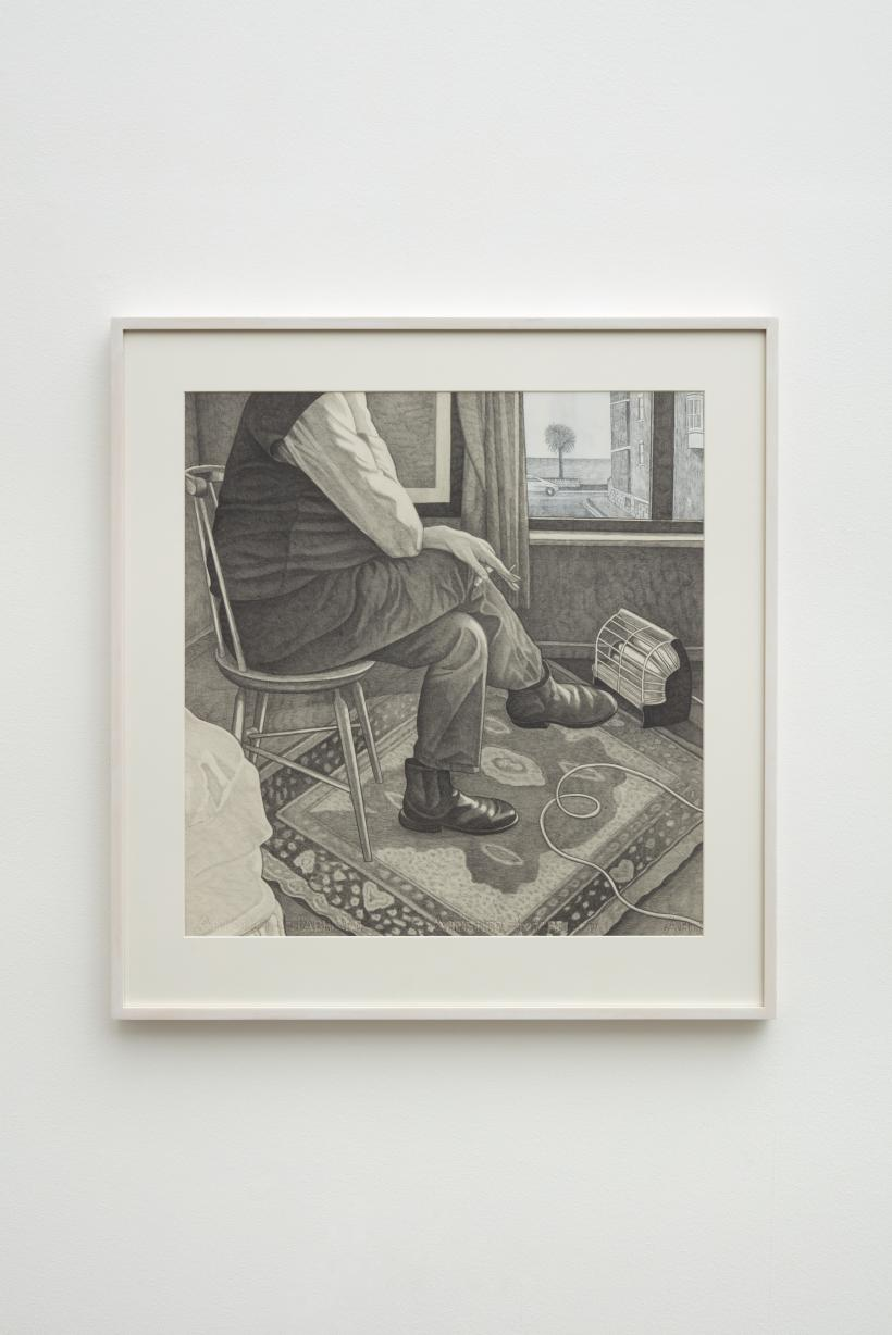 Untitled (artist with electric fire)