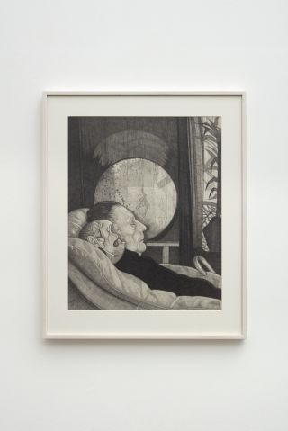 Untitled (mother asleep with masked child)