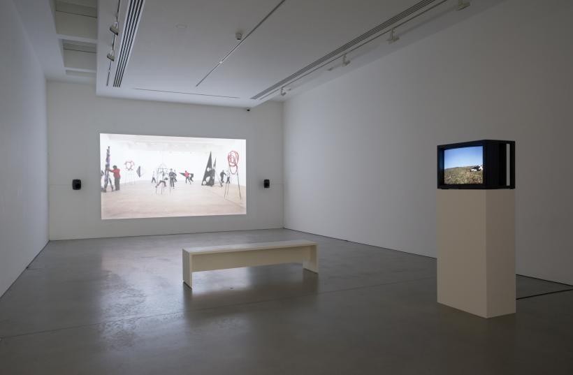 Eva Rothschild & Joe Moran, A Setup, 2018. fig-futures at Kettle's Yard, University of Cambridge.